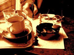 Logo Tinte und Kaffee_sepia_(c)_Tinte_&_Kaffee